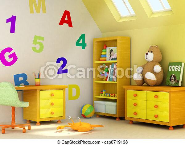 Cuarto de niños - csp0719138