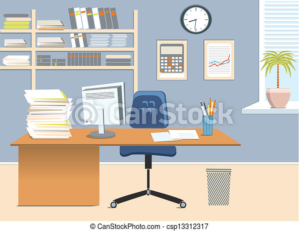 Sala de oficinas - csp13312317