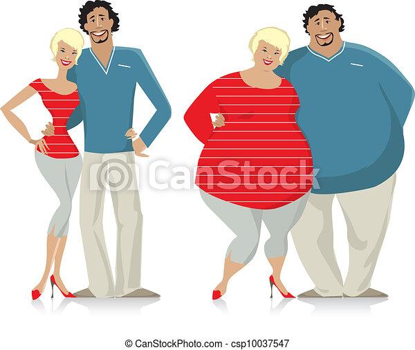 Pareja de dieta - csp10037547