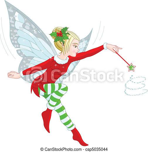 El hada de Navidad - csp5035044
