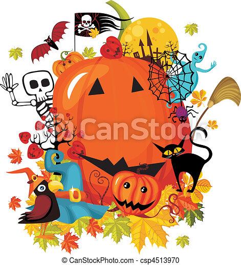 Tarjeta de Halloween - csp4513970