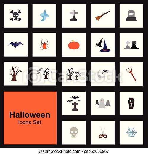 Los iconos de Halloween marcan vector - csp62066967