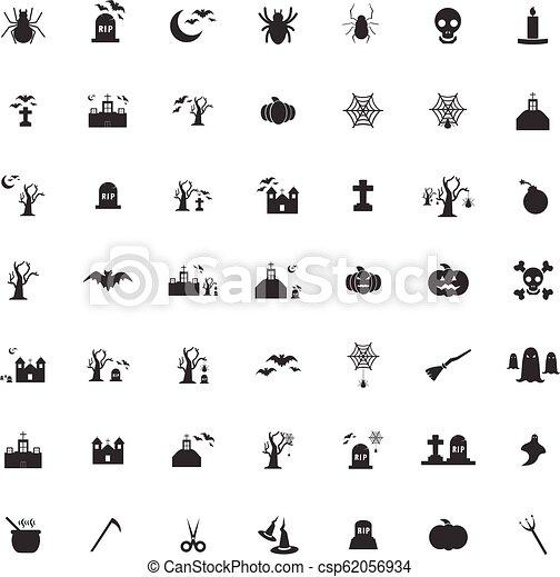Los iconos de Halloween marcan vector - csp62056934