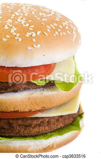Una hamburguesa de primer plano - csp3633516
