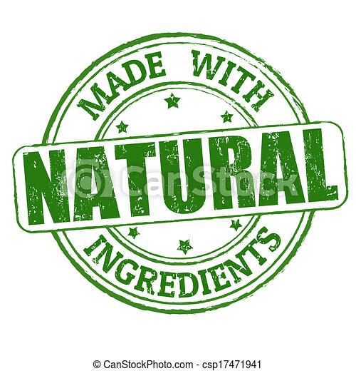 Hecho con ingredientes naturales sello - csp17471941