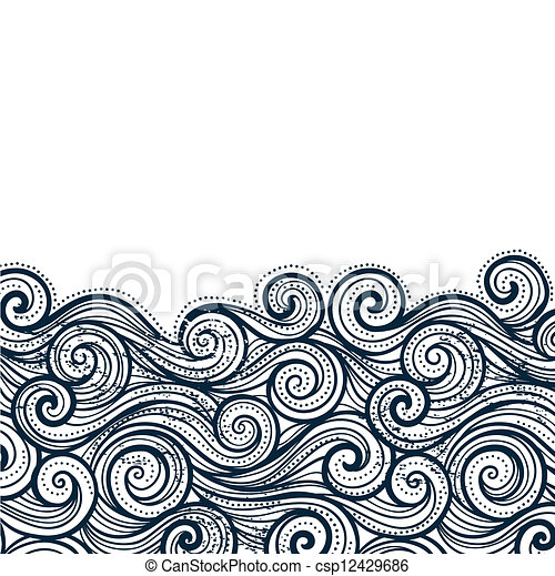 Hermoso fondo de olas - csp12429686
