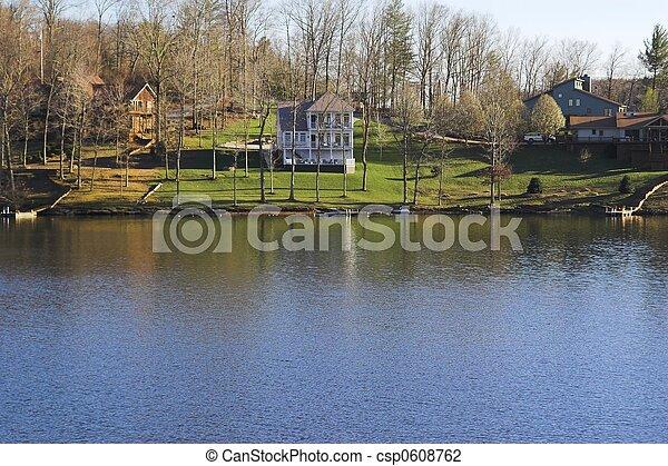 Hermosos lagos en las montañas, - csp0608762
