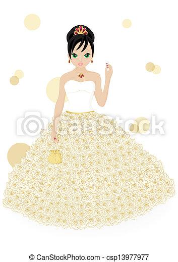 Hermosa novia - csp13977977