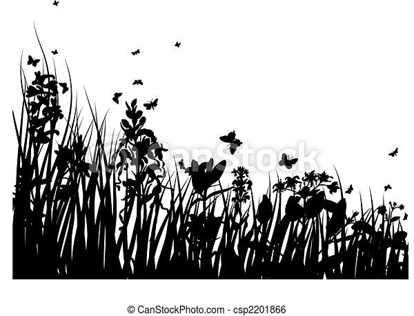 Hierba y flores - csp2201866