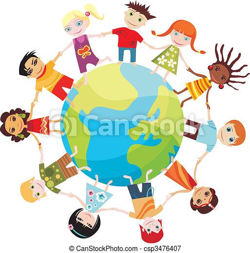 Hijos del mundo - csp3476407