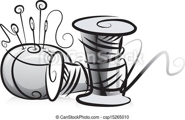 Spools de hilo y almohadón - csp15265010