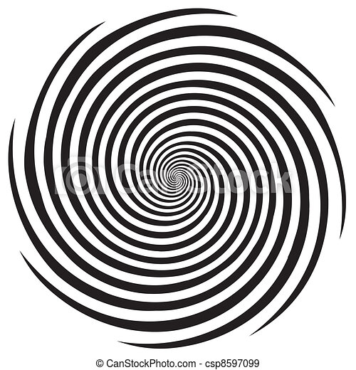 Diseño en espiral de hipnosis - csp8597099