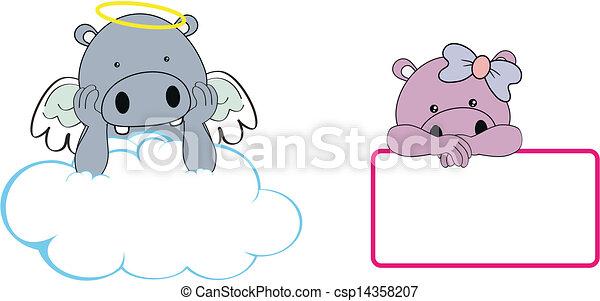 Hipopótamo de ángel imitar a Clo - csp14358207