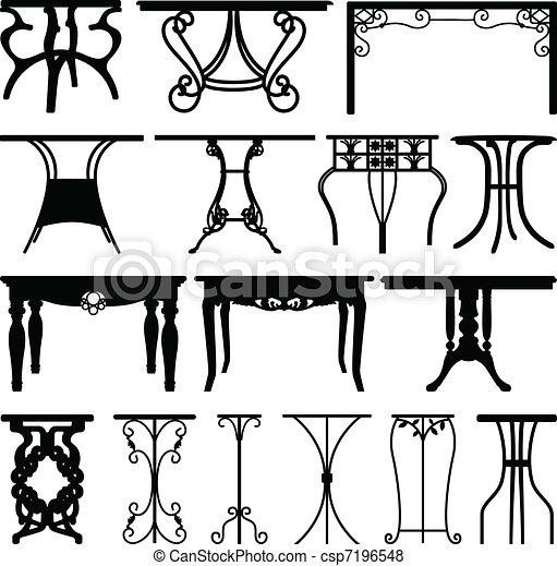 Diseño de muebles de mesa - csp7196548