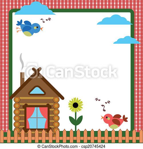 En el patio trasero con casa - csp20745424