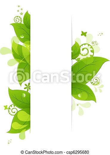 Un fondo natural con hojas y gotas - csp6295680