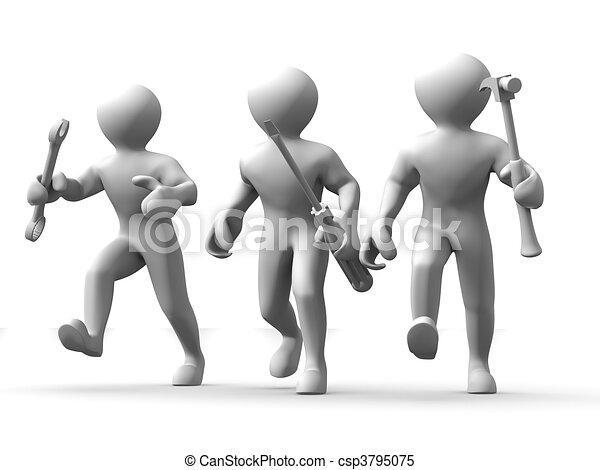 Hombre con herramientas. Mantenimiento - csp3795075