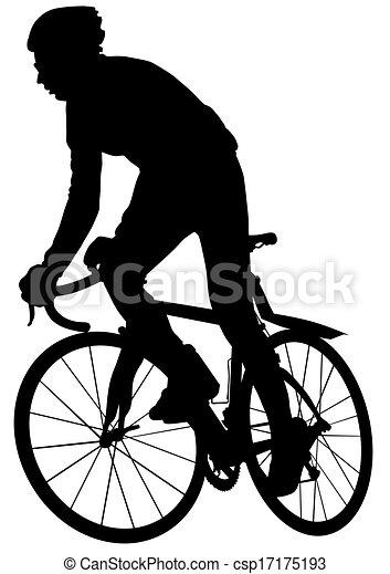Hombre de bicicleta - csp17175193