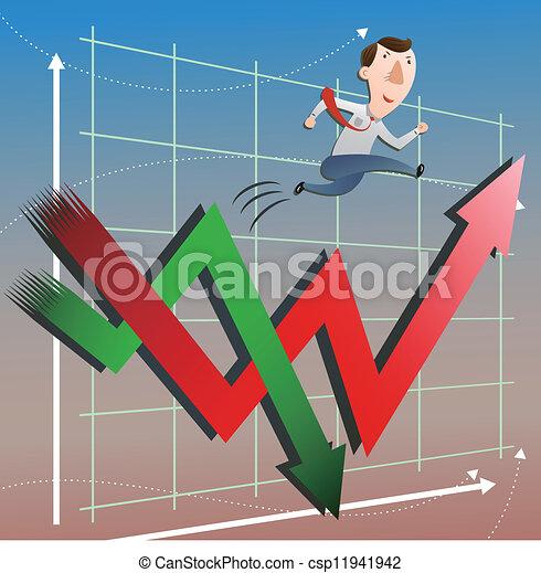 Mercado de valores con hombre de negocios - csp11941942