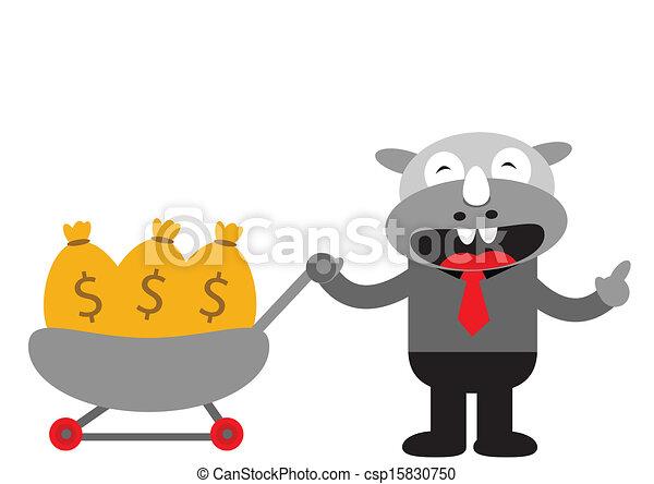 Hombre de negocios Rhino - csp15830750