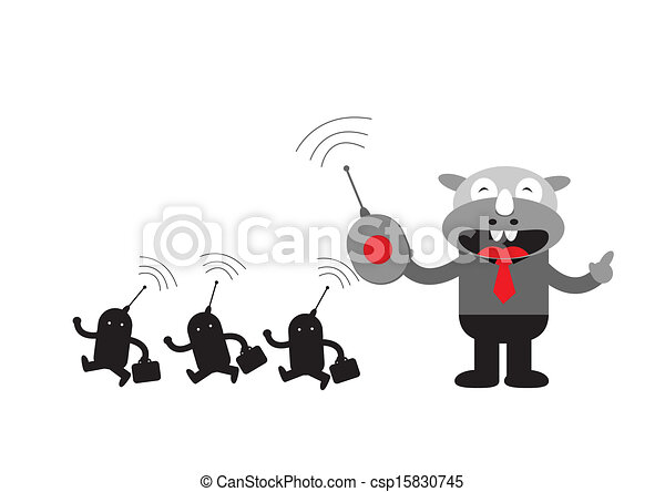 Hombre de negocios Rhino - csp15830745