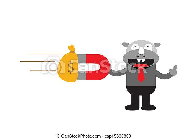 Hombre de negocios Rhino - csp15830830