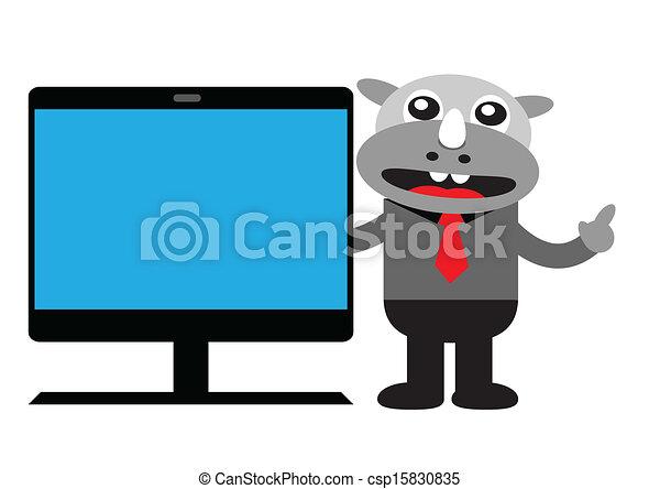 Hombre de negocios Rhino - csp15830835