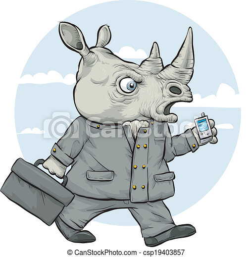 Empresario rinoceronte - csp19403857
