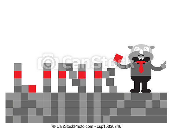 Hombre de negocios Rhino - csp15830746