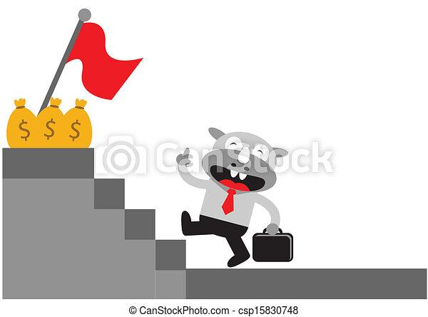Hombre de negocios Rhino - csp15830748