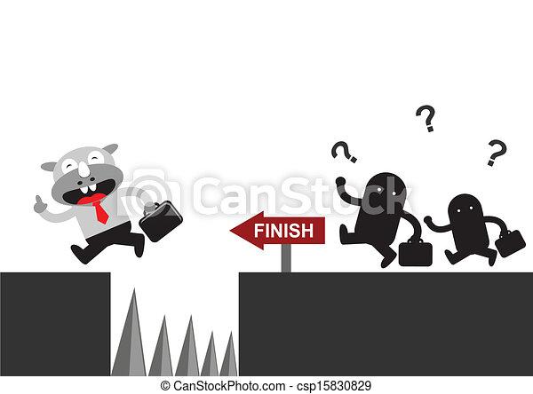 Hombre de negocios Rhino - csp15830829