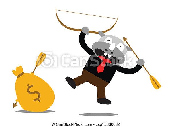 Hombre de negocios Rhino - csp15830832