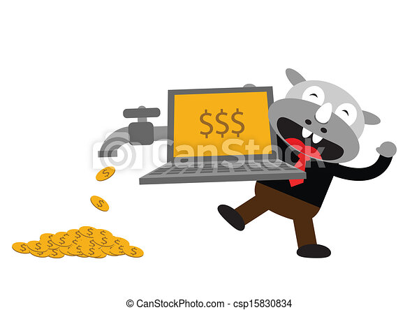 Hombre de negocios Rhino - csp15830834