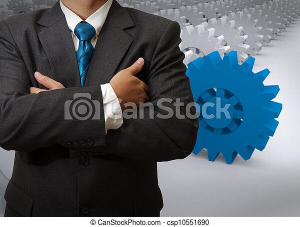 Hombre de negocios y equipo al éxito - csp10551690