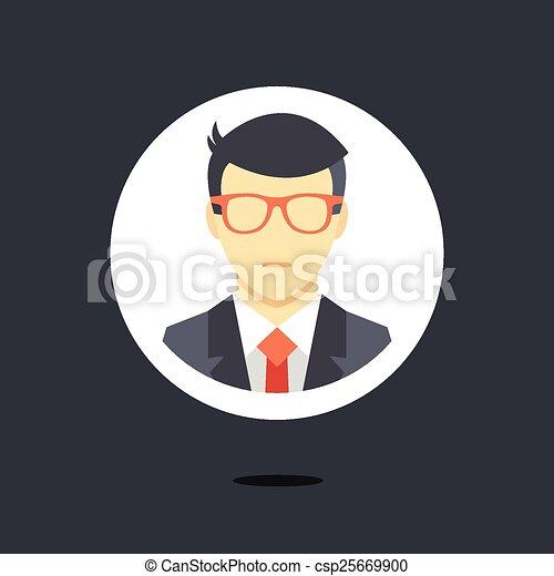 Vector en icono de traje de negocios - csp25669900