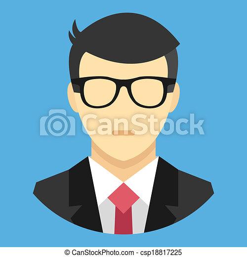 Vector en icono de traje de negocios - csp18817225