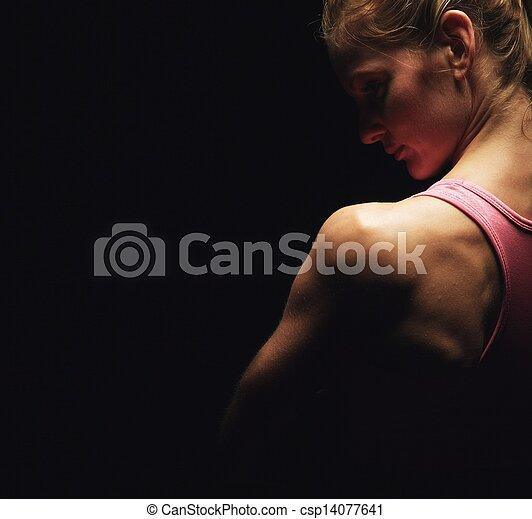 Los hombros de la mujer perfecta - csp14077641