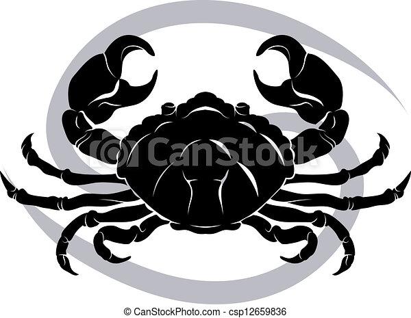 Análisis de horóscopo de cáncer zodiaco - csp12659836