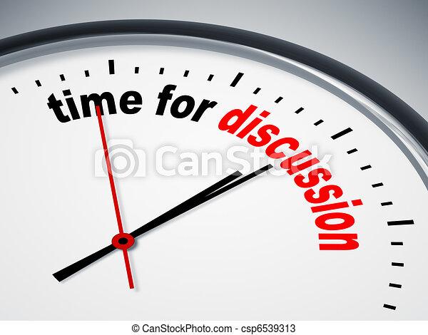 Hora de discutir - csp6539313