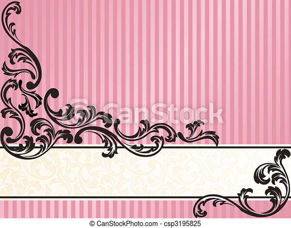 Horizontal romántico, bandera francesa retro en rosa - csp3195825