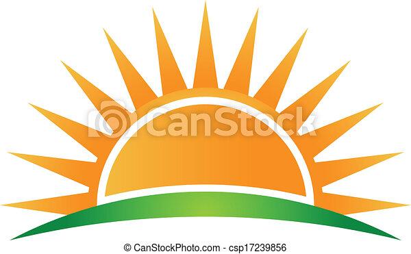 Horizonte solar Vector - csp17239856