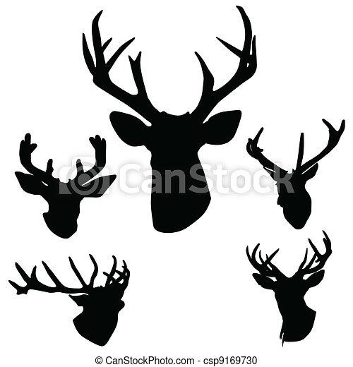Hormigas de ciervos silueta - csp9169730
