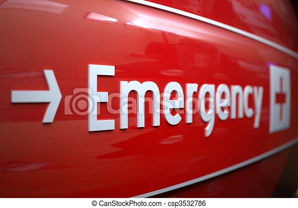 Firma de emergencia en un hospital. - csp3532786