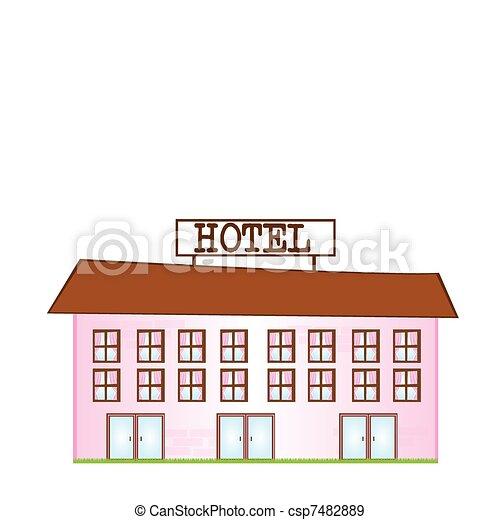 Hotel Cartoon - csp7482889
