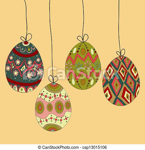 Colgando huevos del este - csp13015106