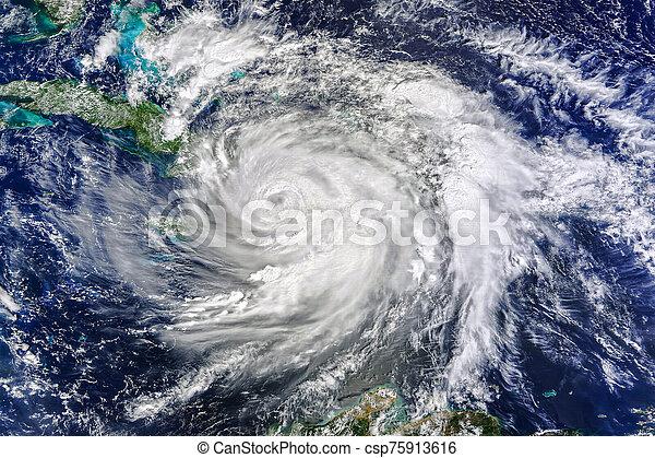 huracán, imagen, elementos, vista, esto, nasa, amueblado, espacio - csp75913616