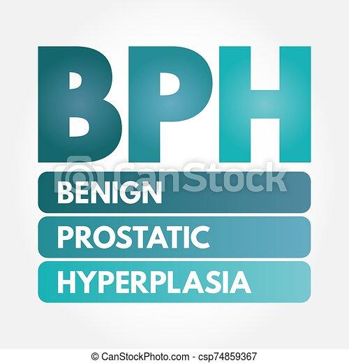 hyperplasia, -, prostatic, bph, benigno, siglas - csp74859367