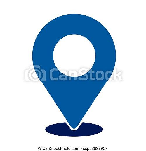 Pon el icono de ubicación - csp52697957