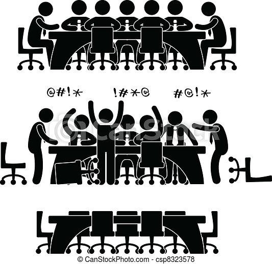 icono de discusión de negocios - csp8323578