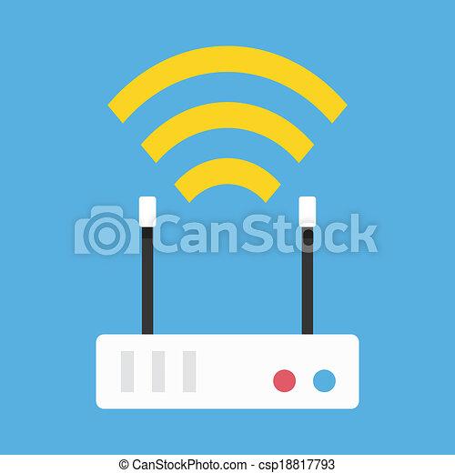 Icono de router inalámbrico Vector - csp18817793